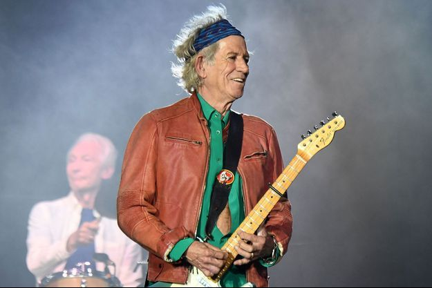 Keith Richards sur scène en juin 2018 à Marseille.