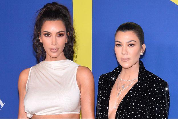 Kim Kardashian et Kourtney aux CFDA Awards à New York, le 4 juin 2018
