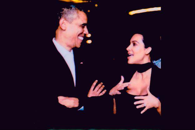 Kim Kardashian et Barack Obama sur un cliché datant de 2015.