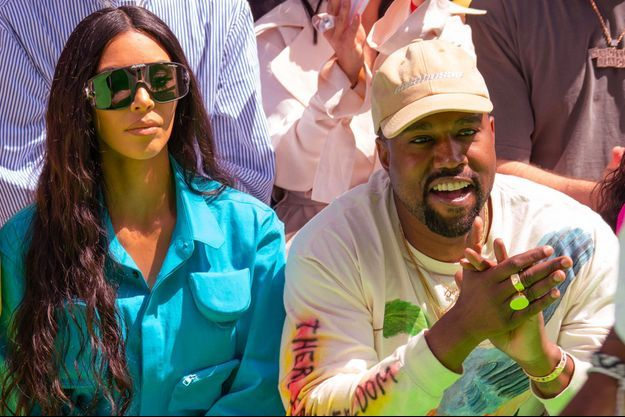 Kim Kardashian et Kanye West à Paris le 21 juin 2018