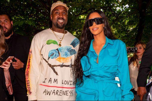 Kanye West et Kim Kardashian, juin 2018