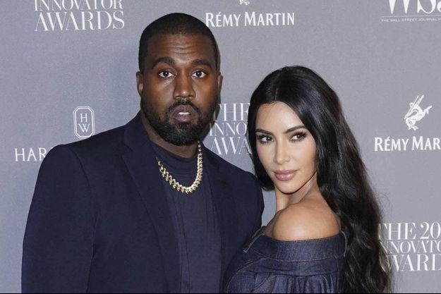 Kanye West et Kim Kardashian aux Innovator Awards en novembre 2019 à New York