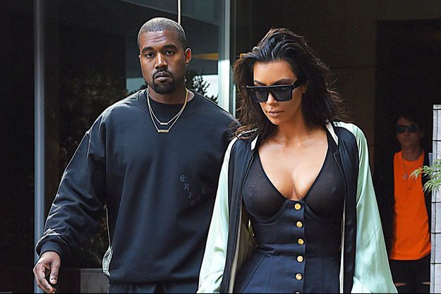 Kim Kardashian et Kanye West en août 2016