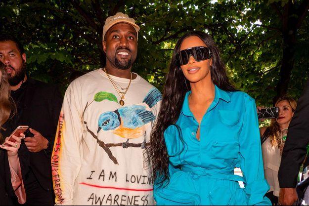 Kim Kardashian et Kanye West à Paris, le 21 juin 2018