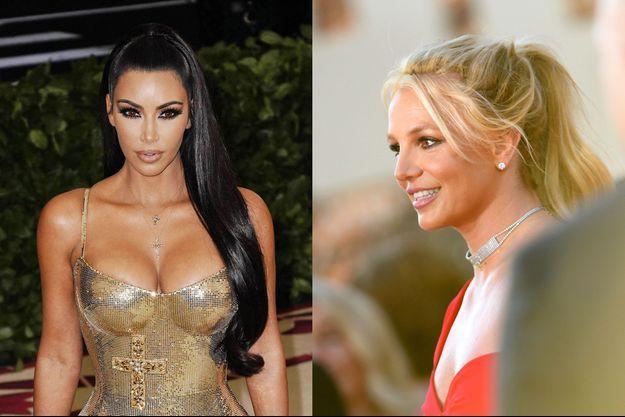 Kim Kardashian et Britney Spears.