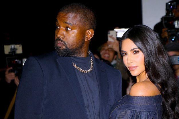 Kanye West et Kim Kardashian en novembre dernier, à New York.