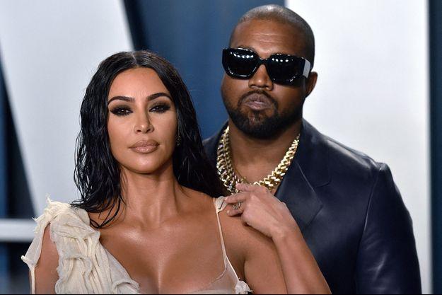 Kim Kardashian et Kanye West en février 2020
