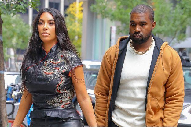 Kim Kardashian et Kanye West en 2019