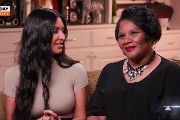 Kim Kardashian et Alice Johnson lors de leur interview pour le Today Show sur NBC