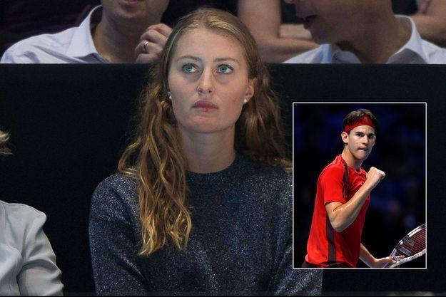 Kristina Mladenovic lundi était dans les tribunes pour soutenir Dominic Thiem lors des Masters de Londres.