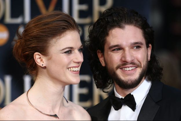 Kit Harington et Rose Leslie le 3 avril 2016 à Londres.