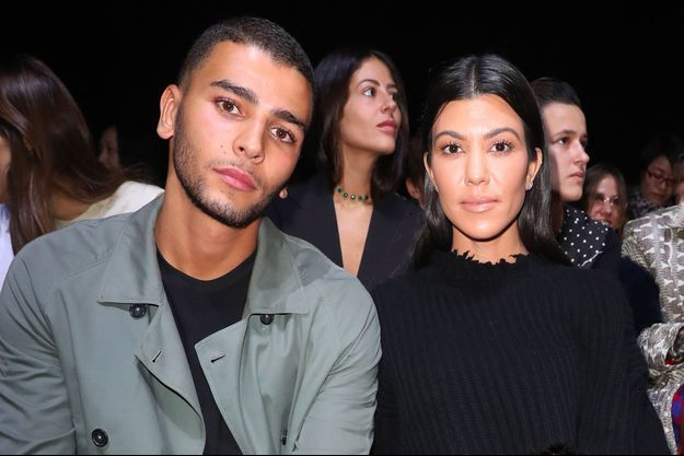 Kourtney Kardashian et Younes Bendjima à Paris en septembre 2017