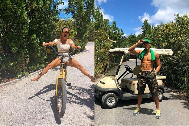 Kourtney Kardashian et Younes Bendjima en vacances.