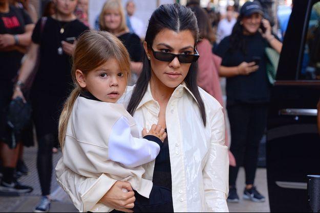 Kourtney Kardashian et son fils Reign