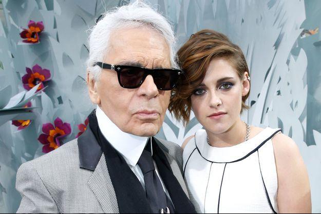 Karl Lagerfeld et Kristen Stewart en 2015