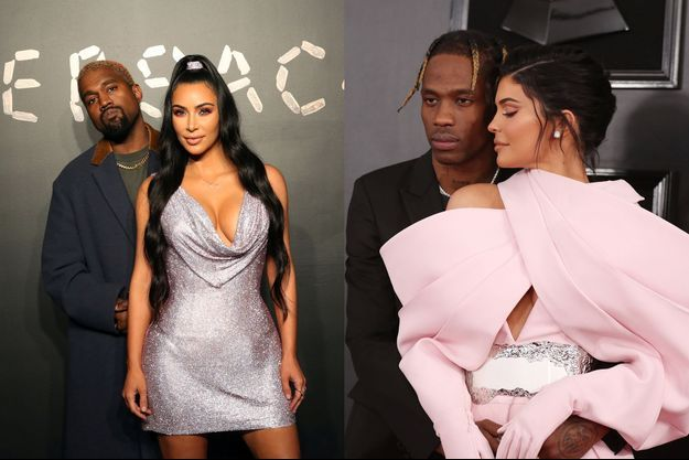 Kim Kardashian et Kanye West / Kylie Jenner et Travis Scott