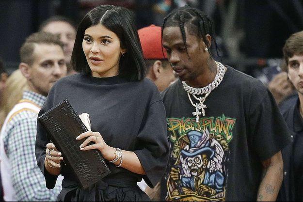 Kylie Jenner et Travis Scott à Houston, le 18 avril 2018.