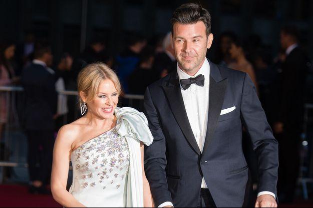 Kylie Minogue et Paul Solomons en 2019