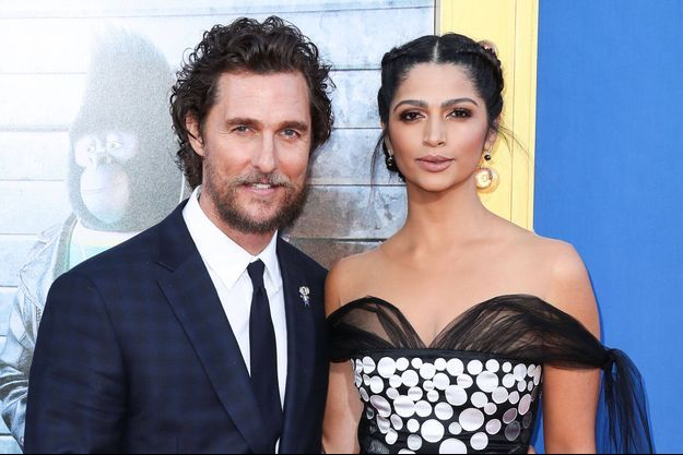 Matthew McConaughey et son épouse Camila Alves.