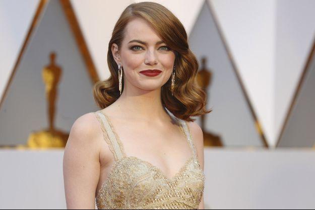 Emma Stone aux Oscars, le 26 février dernier.
