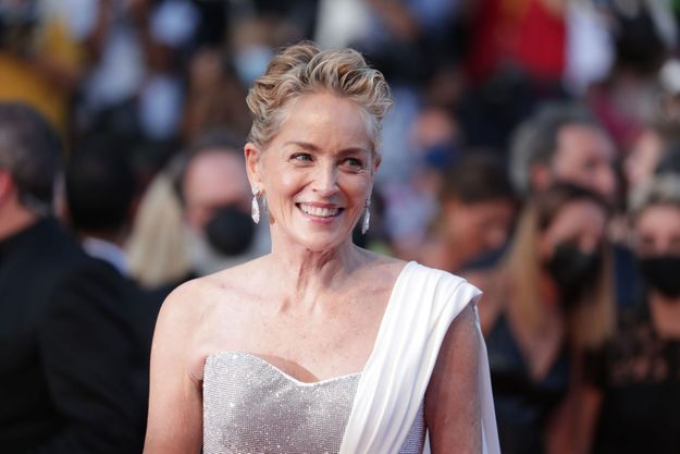 Sharon Stone à Cannes en juillet 2021.