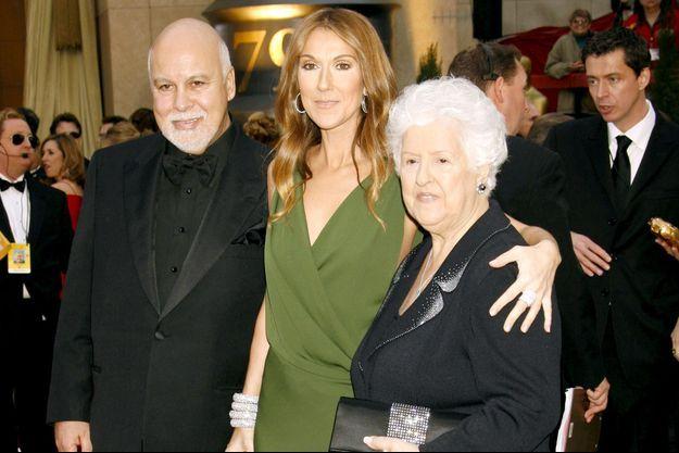 René Angélil, Céline Dion et Thérèse Tanguay-Dion en 2007.