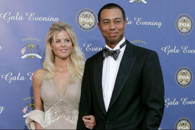 Elin Nordegren et Tiger Woods en 2004