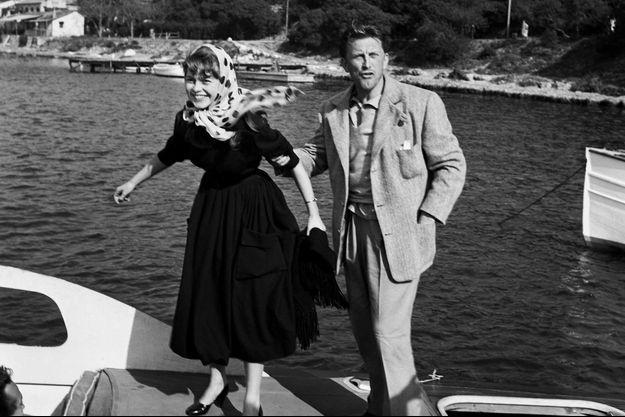Brigitte Bardot et Kirk Douglas au Festival de Cannes en 1953
