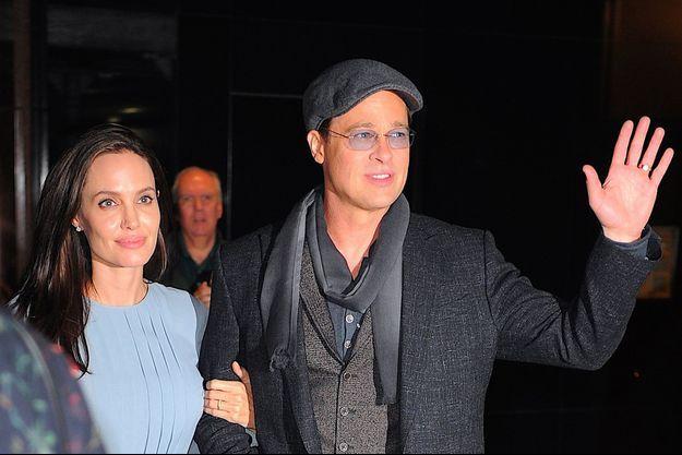 Angelina Jolie et Brad Pitt à New York en novembre 2015.
