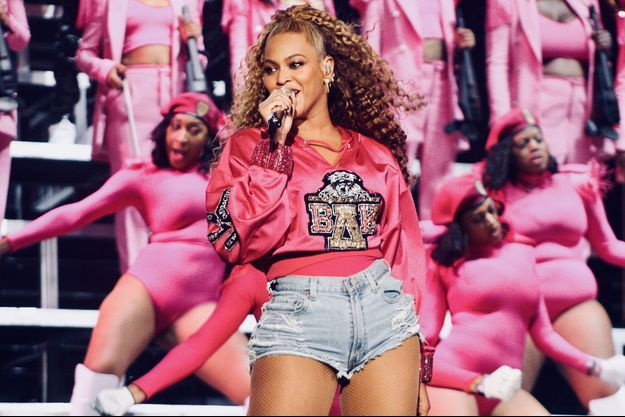Beyoncé en concert au Coachella Festival en avril 2018