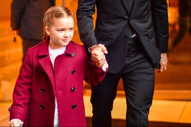 Harper Beckham à New York en février 2018