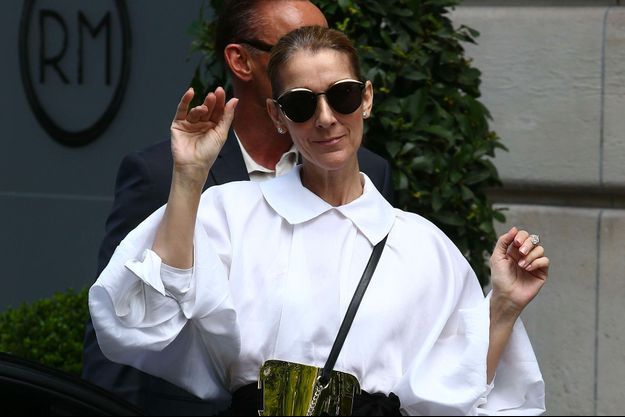 Céline Dion à Paris, le 29 juillet 2017