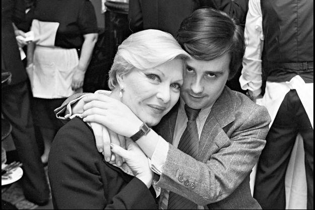 Line Renaud et Thierry Le Luron, en février 1978.