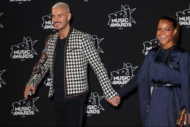Matt Pokora et Christina Milian aux NRJ Music Awards en 2017.