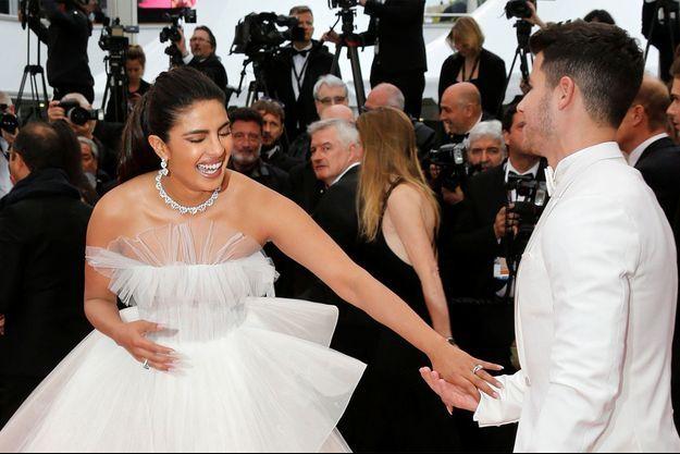 Priyanka Chopra et Nick Jonas à Cannes cette année.