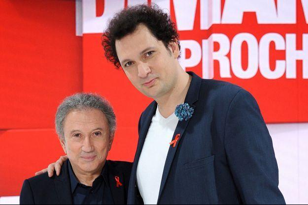 Michel Drucker et Éric Antoine.
