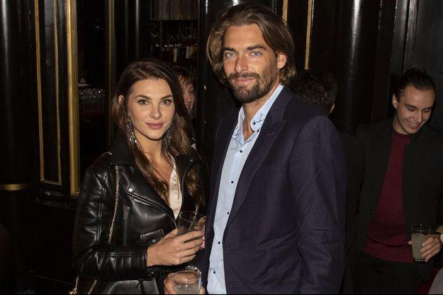 Camille Lacourt et sa compagne Alice Detollenaere à Paris le 26 septembre 2019.