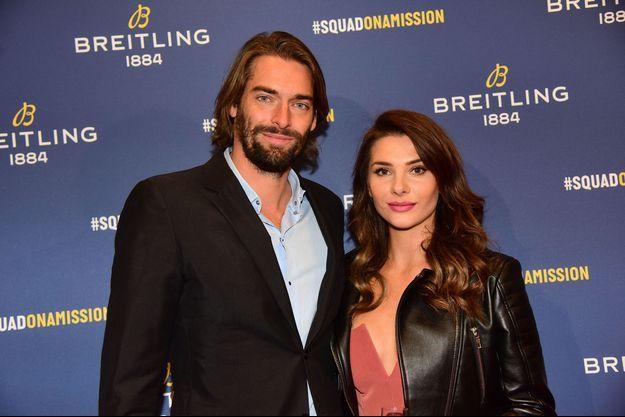Camille Lacourt et Alice Detollenaere lors de la soirée Breitling le 3 octobre 2019.