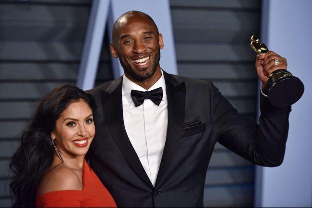 Vanessa et Kobe Bryant à Beverly Hills en mars 2018.