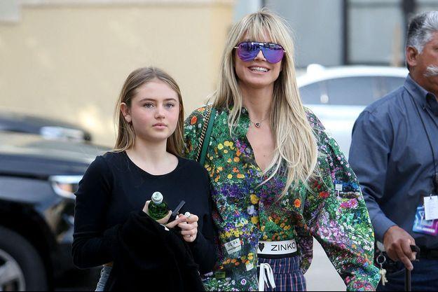 Heidi Klum et sa fille Leni à Los Angeles le 5 mars 2020