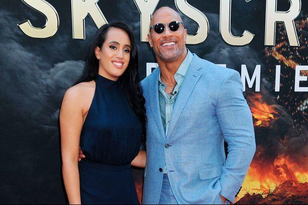 Dwayne Johnson et sa fille Simone à New York en 2018.
