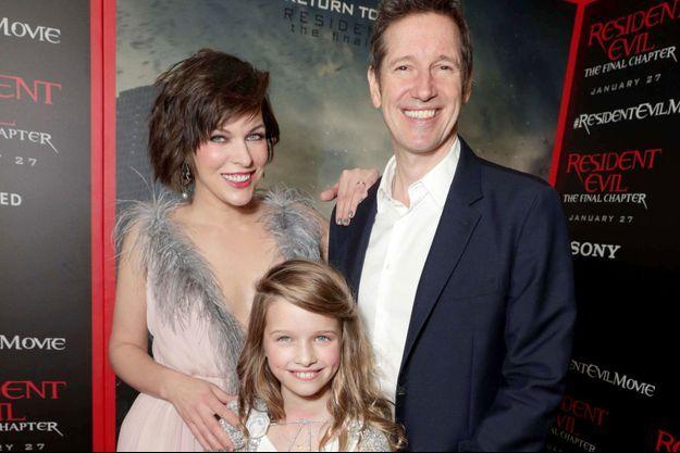 Milla Jovovich, Paul W.S. Anderson et leur fille Ever Gabo