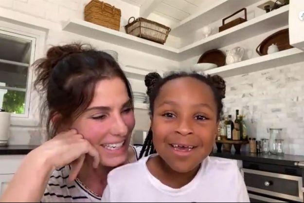 Sandra Bullock et sa fille Laila