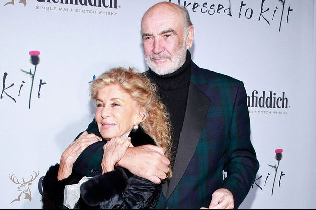 Micheline Roquebrune et Sean Connery en 2009