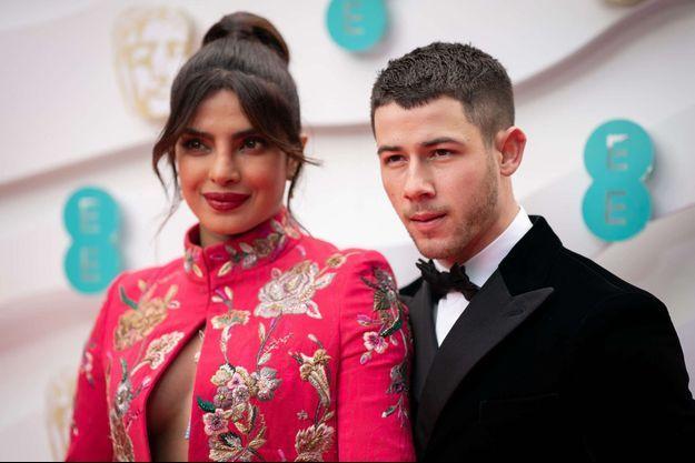 Priyanka Chopra et Nick Jonas en avril 2021 à Londres.