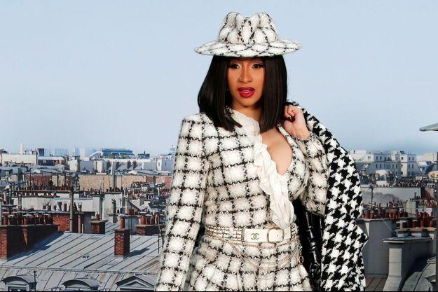 Cardi B à la fashion week de Paris en ocotbre 2019.