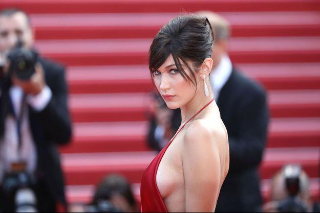 Bella Hadid au festival de Cannes 2016.