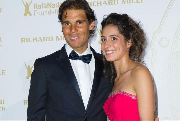 Rafael Nadal et Xisca Perello à Paris en 2015.