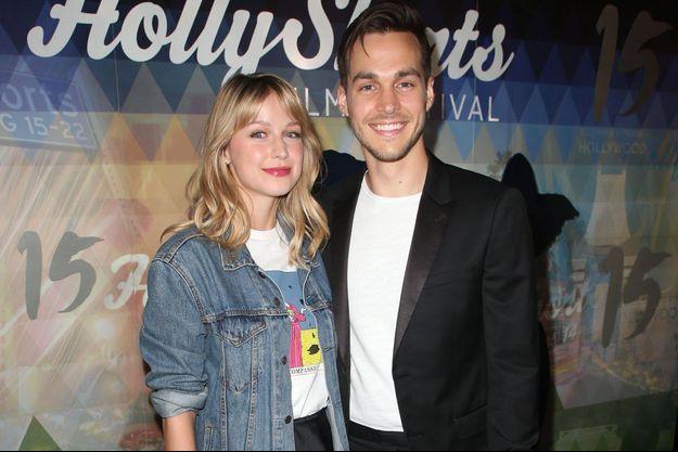 Melissa Benoist et Chris Wood en août 2019 à Los Angeles.