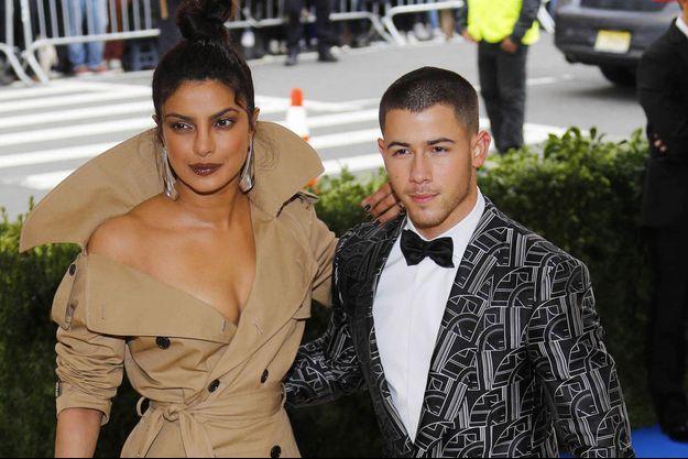 Priyanka Chopra et Nick Jonas en mai 2017 au MET gala.